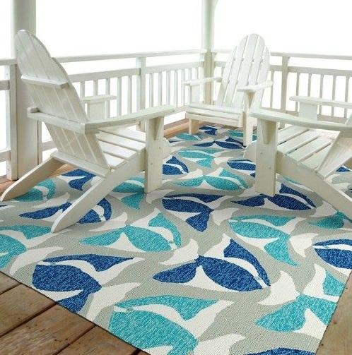 Decorar La Terraza Con Alfombras Color Azul Turquesa