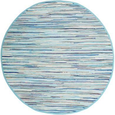 Alfomfra redonda azul turquesa