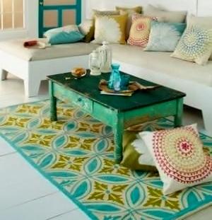 Decorar terrazas con alfombras