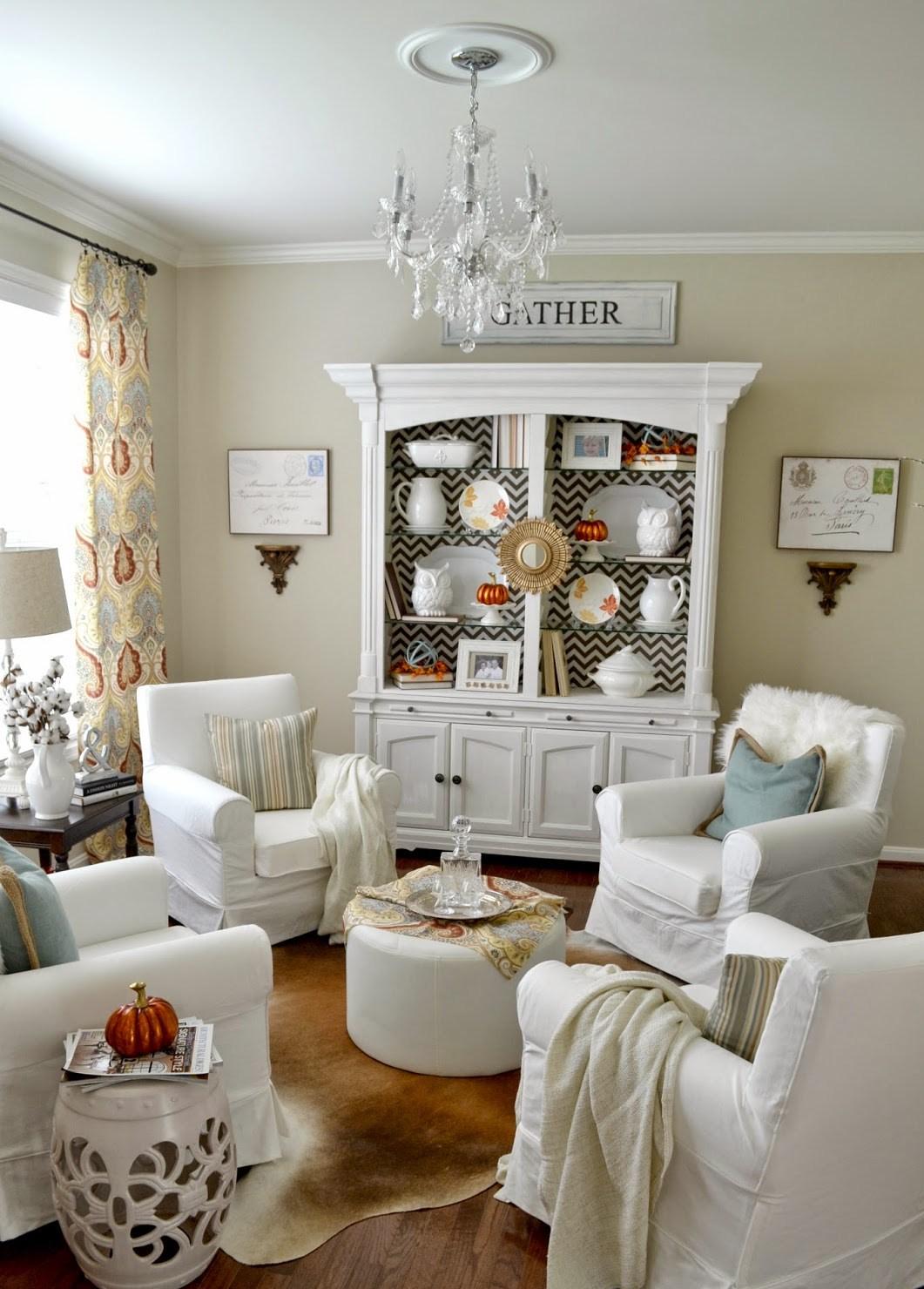 vitrina pintada para el salón