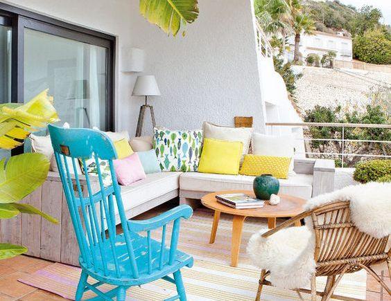 decorar la terraza estilo mediterráneo-vintage