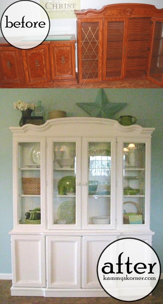 vitrina pintada en blanco