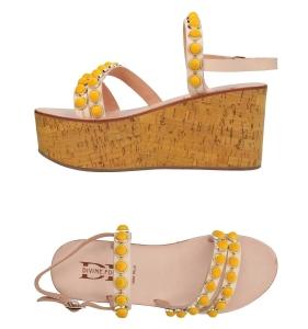 Sandalia amarillo limón para mujer