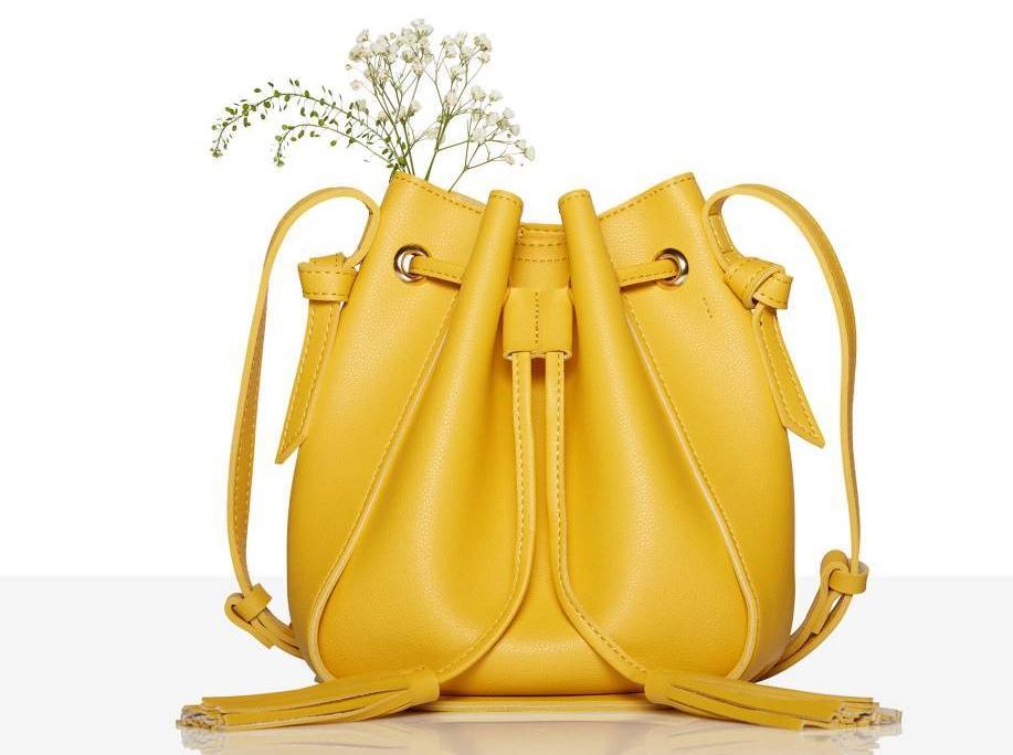 Bolso amarillo-limón primavera-verano 2018