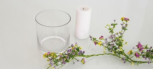 DIY decorar con flores y velas-2