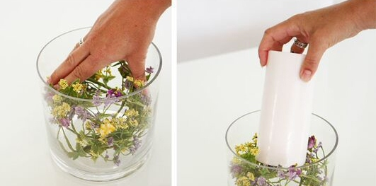 DIY decorar con flores y velas-4