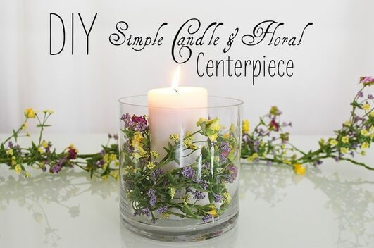 DIY decorar con flores y velas