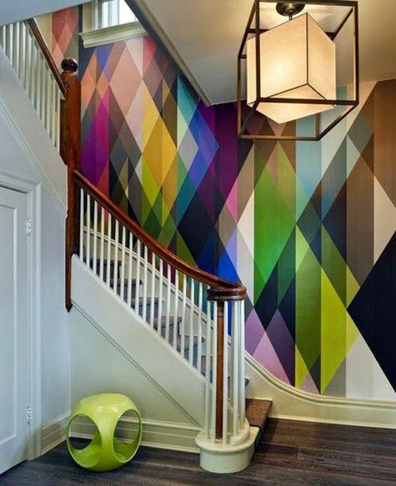 papel pintado motivos geométricos
