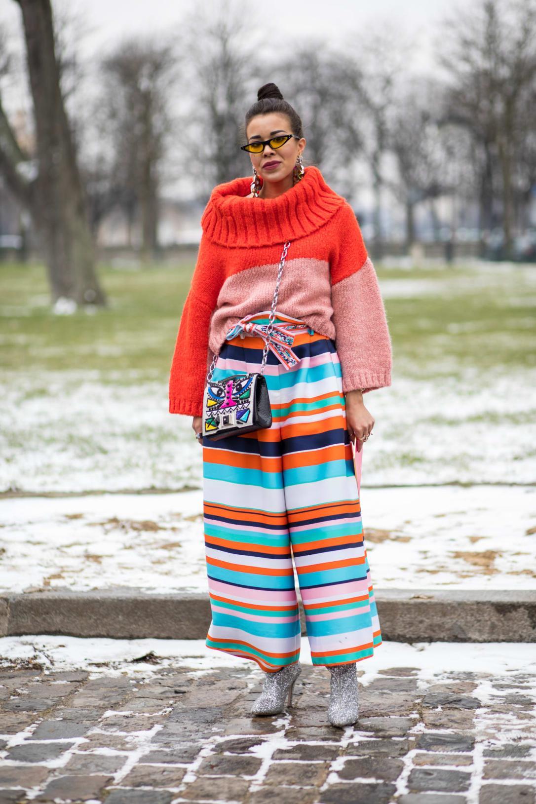 Jersey Otoño-Invierno 2018 paris fashion week street style
