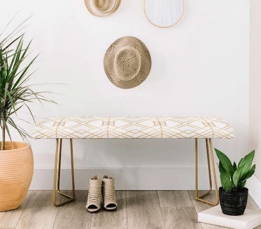Asiento tapizado para mueble credenza