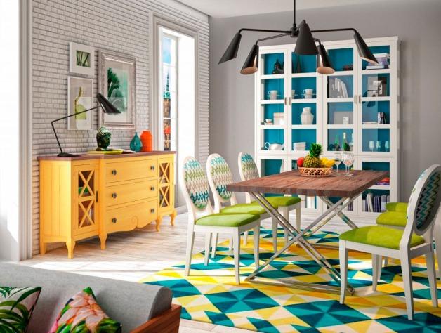 muebles pintados para comedor moderno