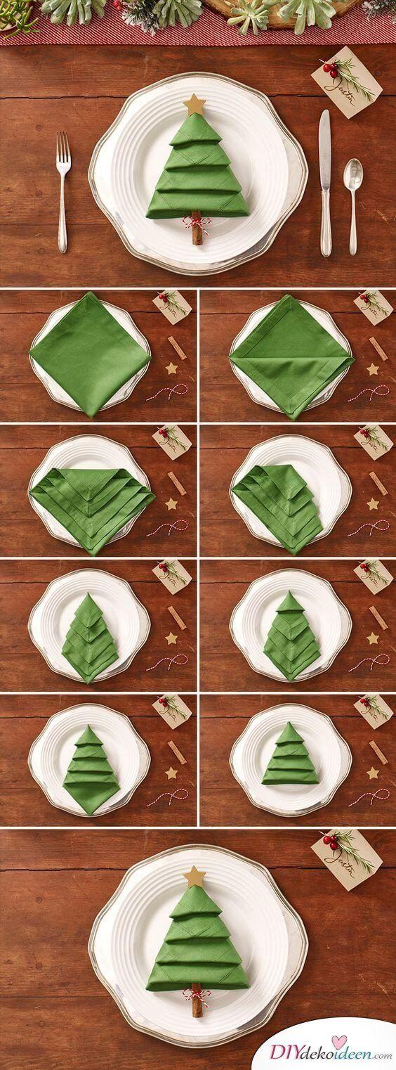 Servilletas para decorar la mesa de navidad