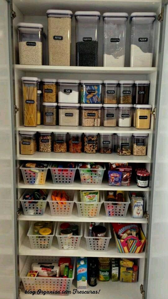 como organizar los productos en la despensa