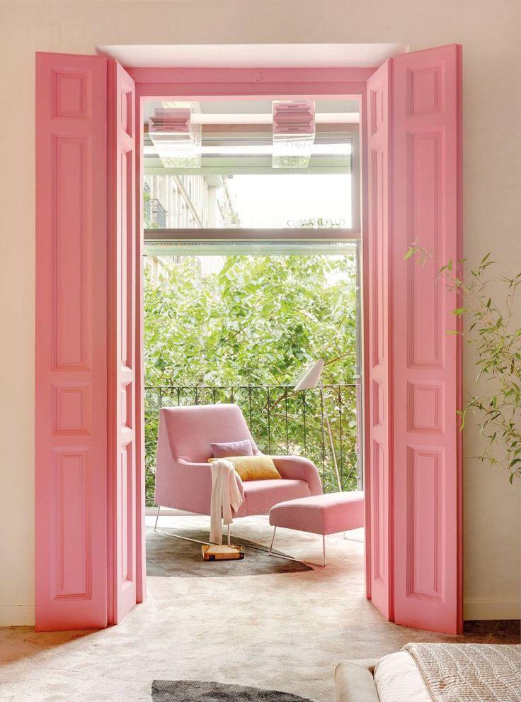 pintar-puertas-de-la-terraza-en-rosa