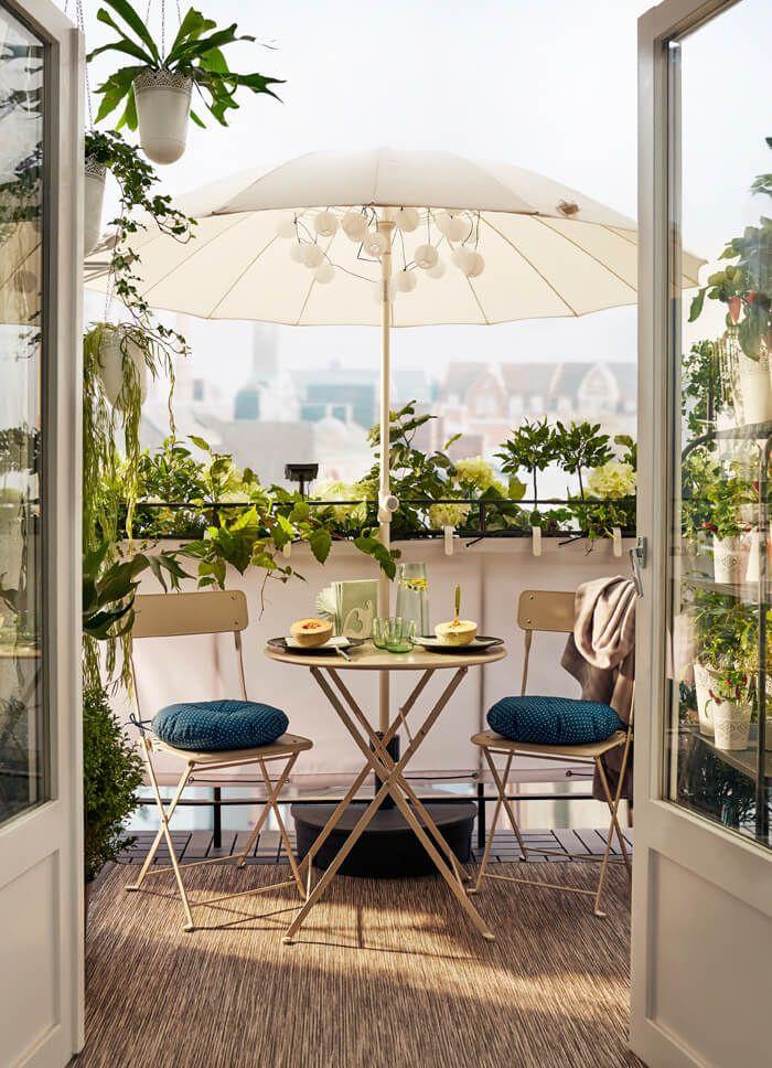 Almuerzos encantadores en la terraza.